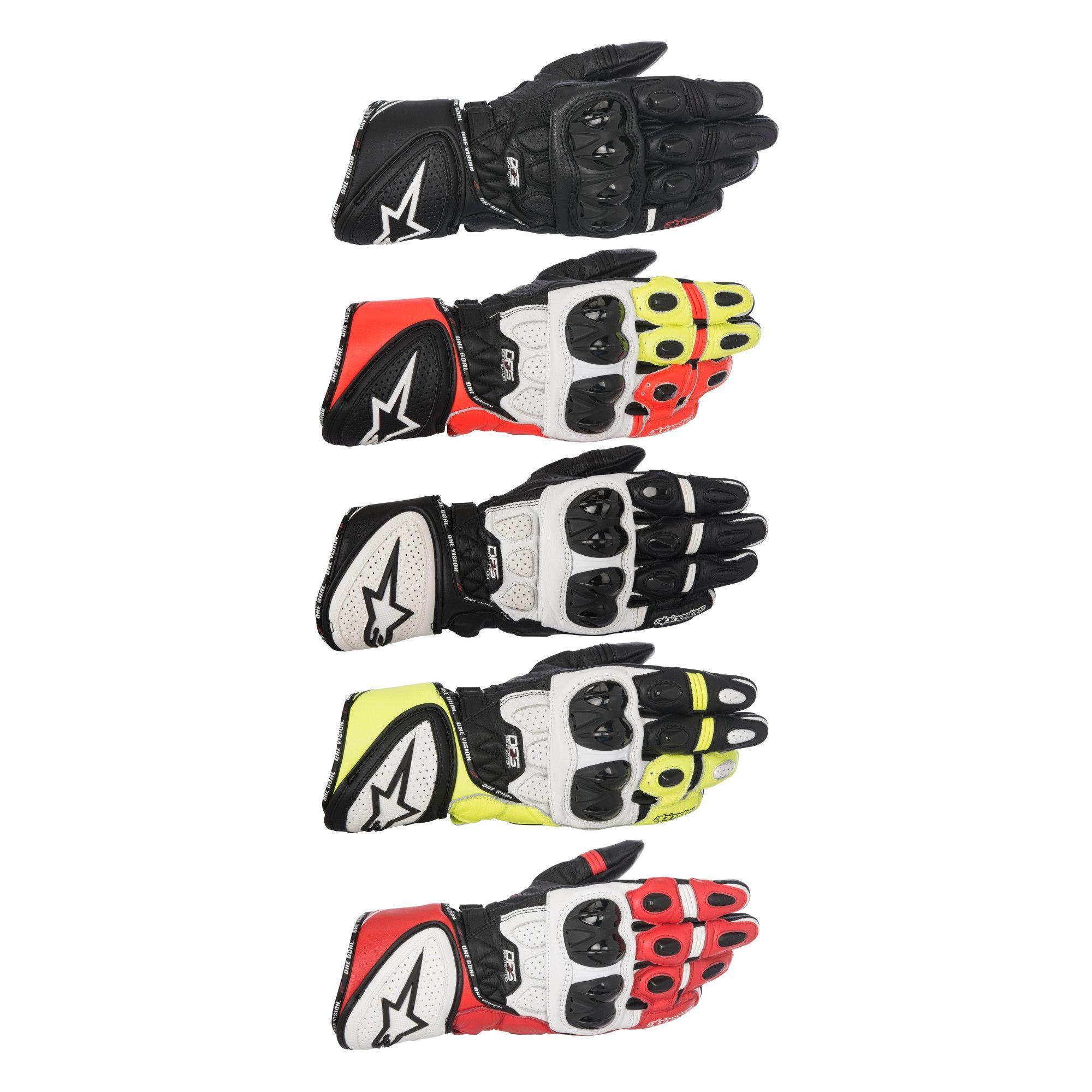 Gp Plus R Leather Motorcycle Gloves Ebay
