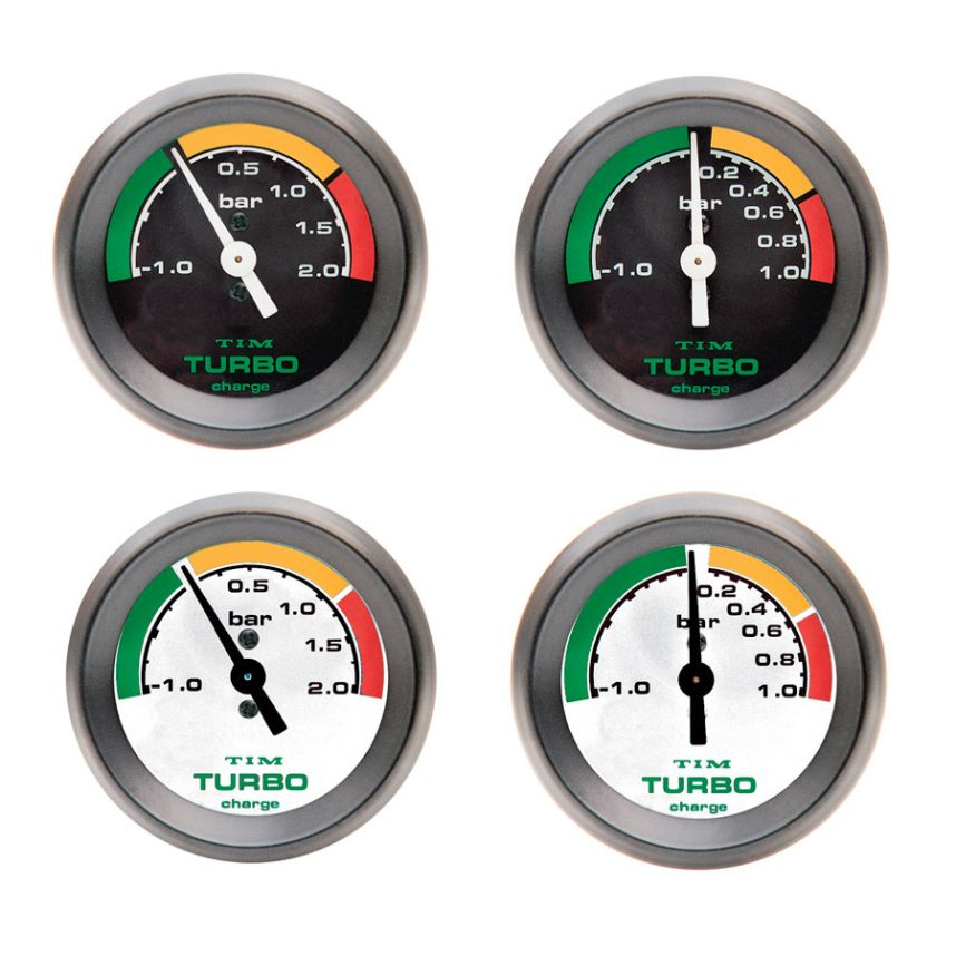 White Dial Face Racing//Rally Racetech Mechanical Turbo Boost Pressure Gauge
