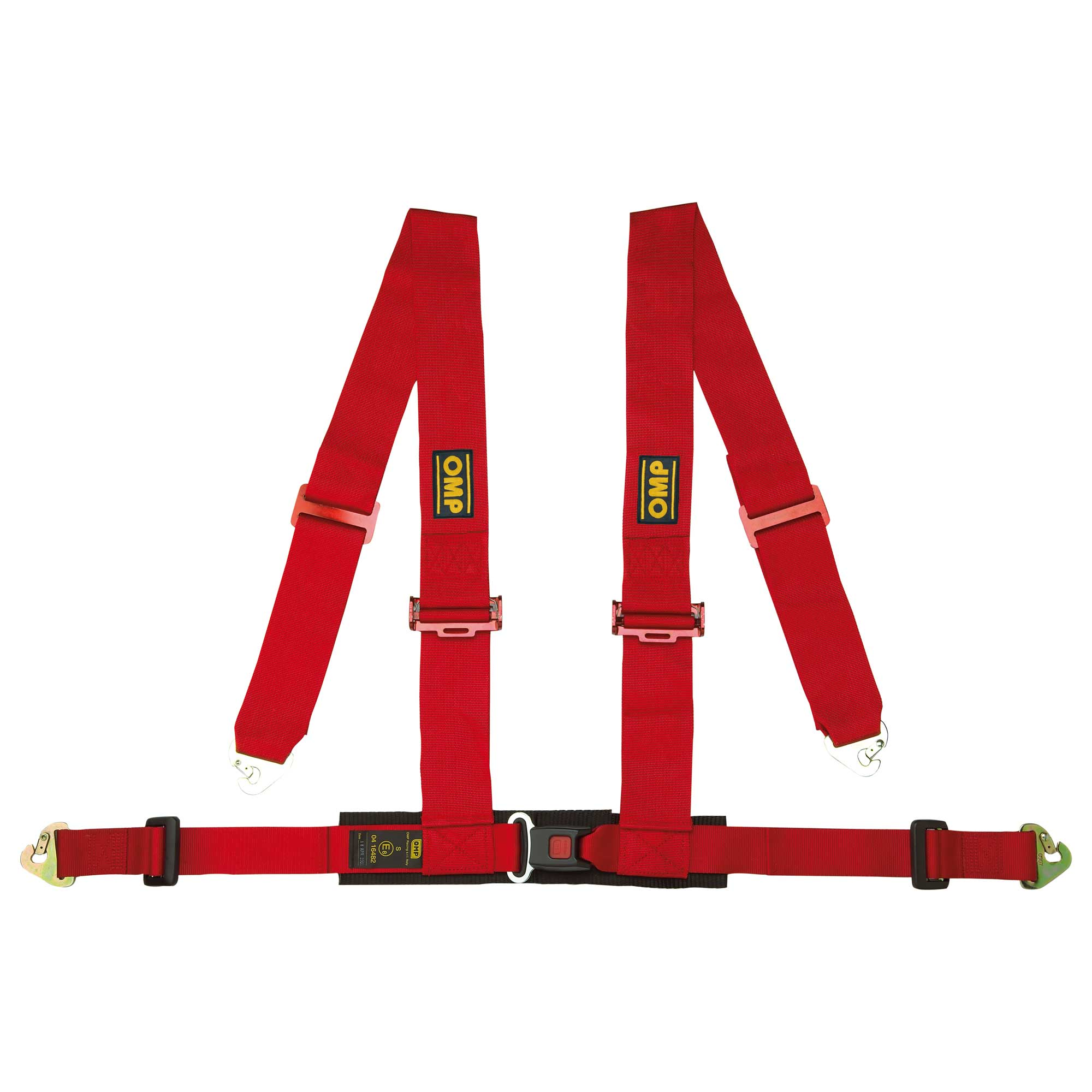 Snap Hook - Road Legal ECE Approved Saloon TRS Clubman 4 Point Harness RED