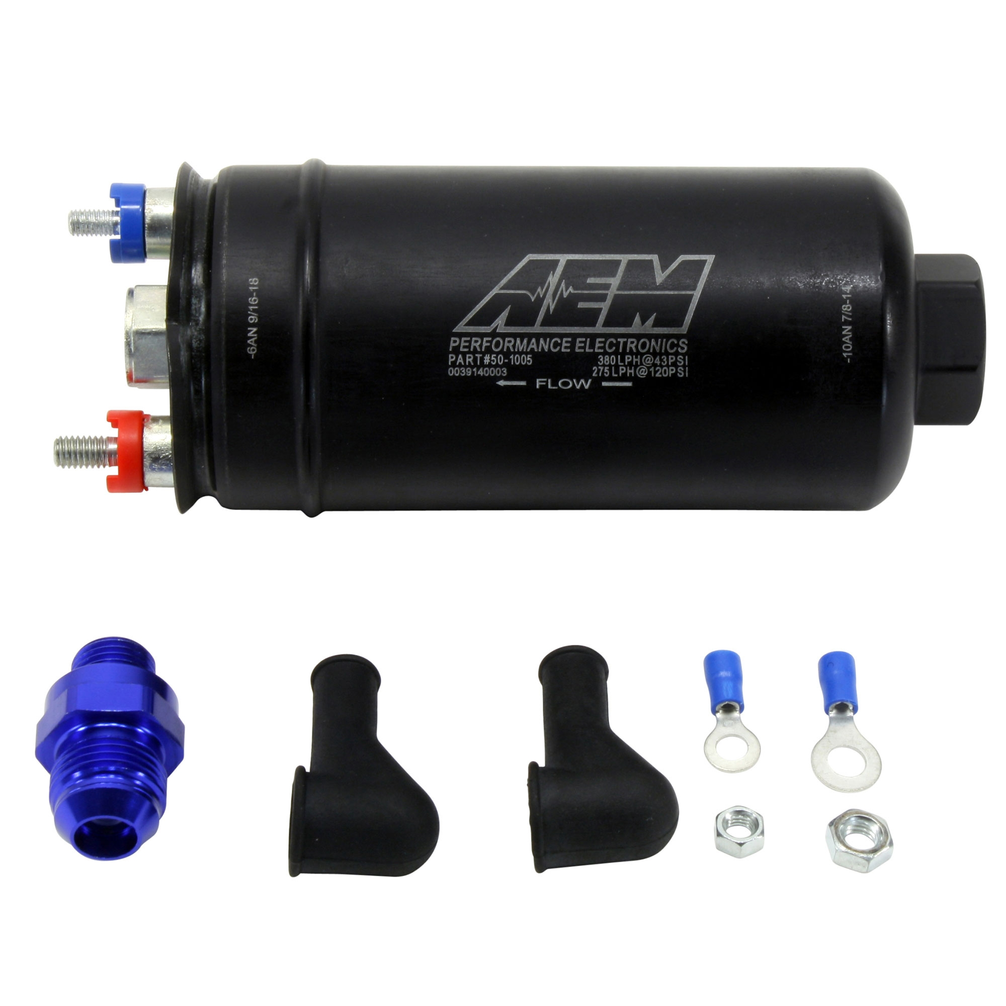 AEM 50-1005 High Flow In-Line Fuel Pump 380lph High-Pressure 044 Style FREE SHIP