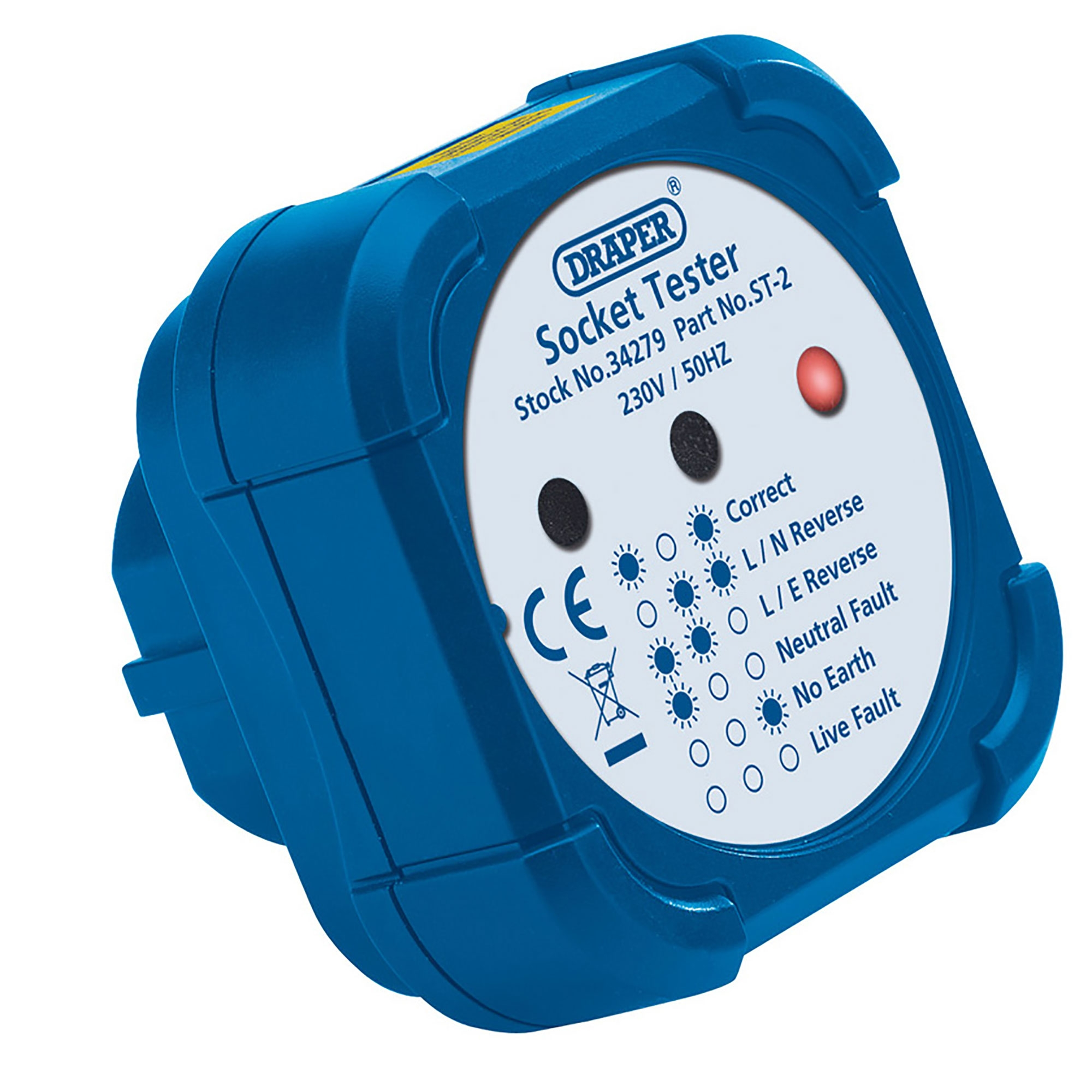 Next Working Day to UK Draper 13A Socket Tester 34279