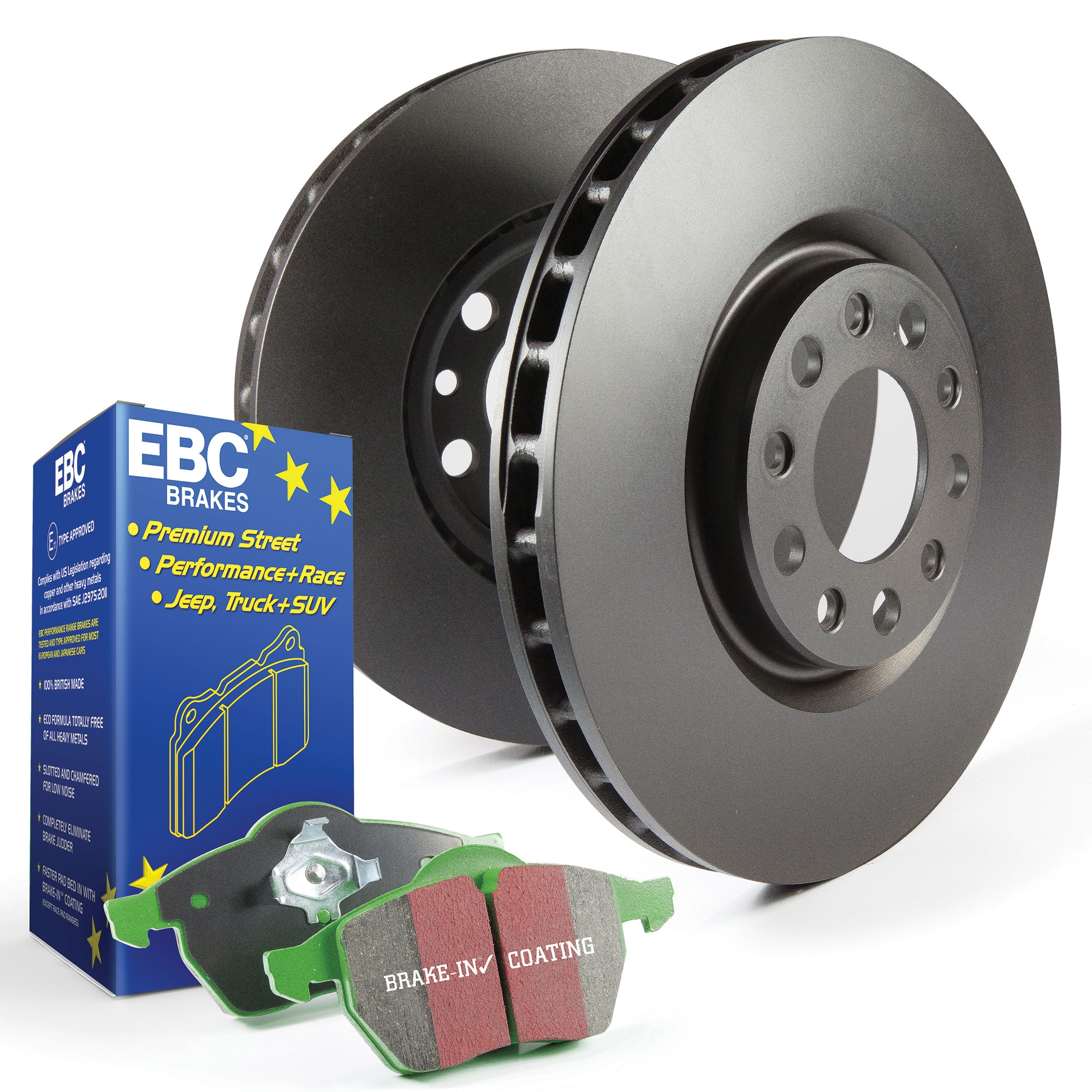 FRONT DRILLED /& GROOVED PERFORMANCE BRAKE DISCS /& PADS FITS FORD FIESTA MK7