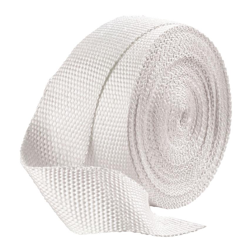 "White Exhaust Heat Wrap Two 25mm x 6 Metres 1/"" x 20/'"