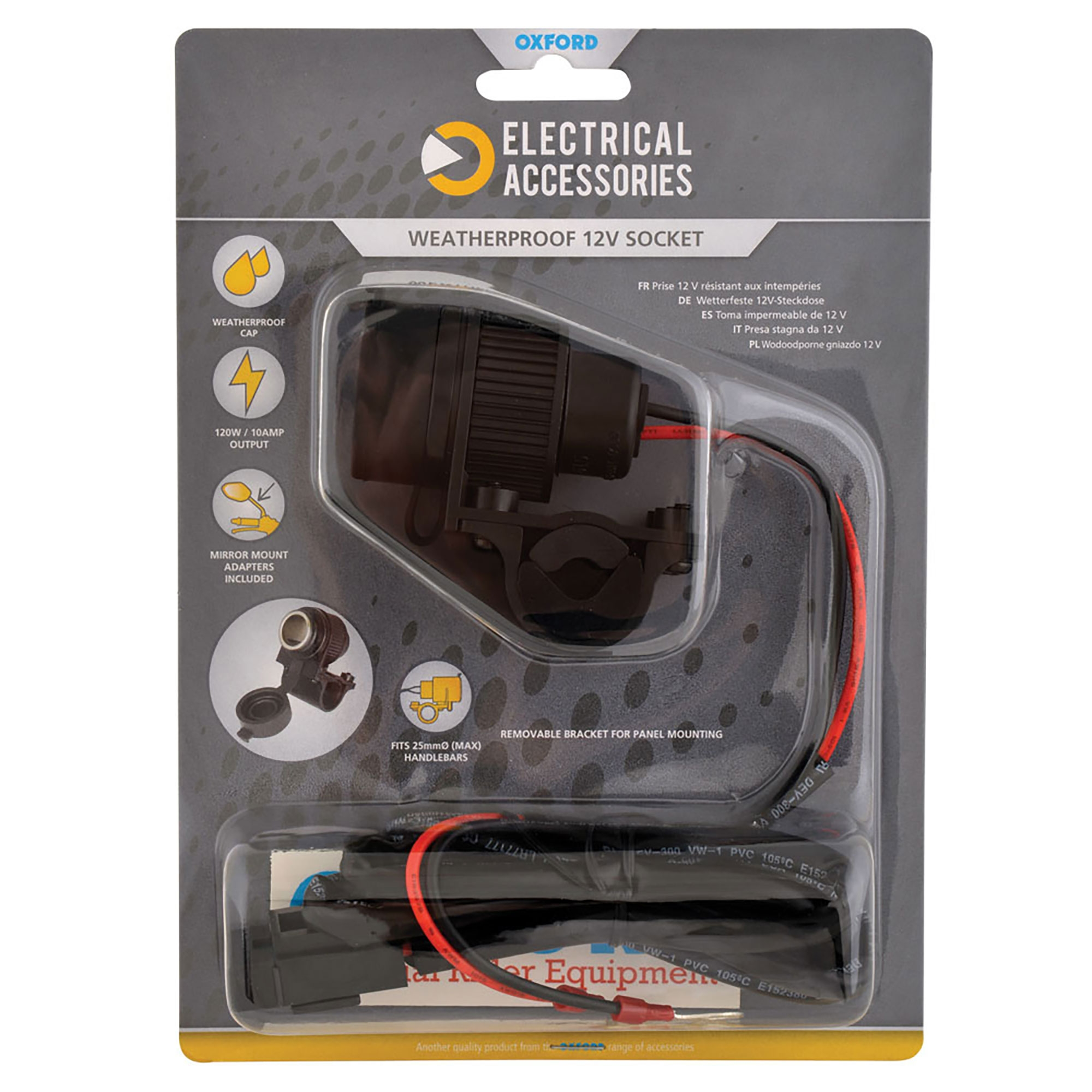 Oxford High Power USB 2.1 Charging Kit with battery harness EL114
