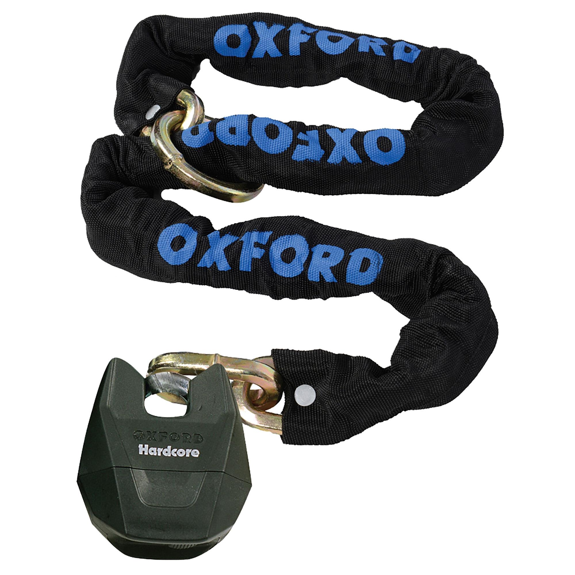 Oxford Hardcore XL LK153 Thatcham Approved 1.5 Metre x 12mm Loop Chain /& Padlock