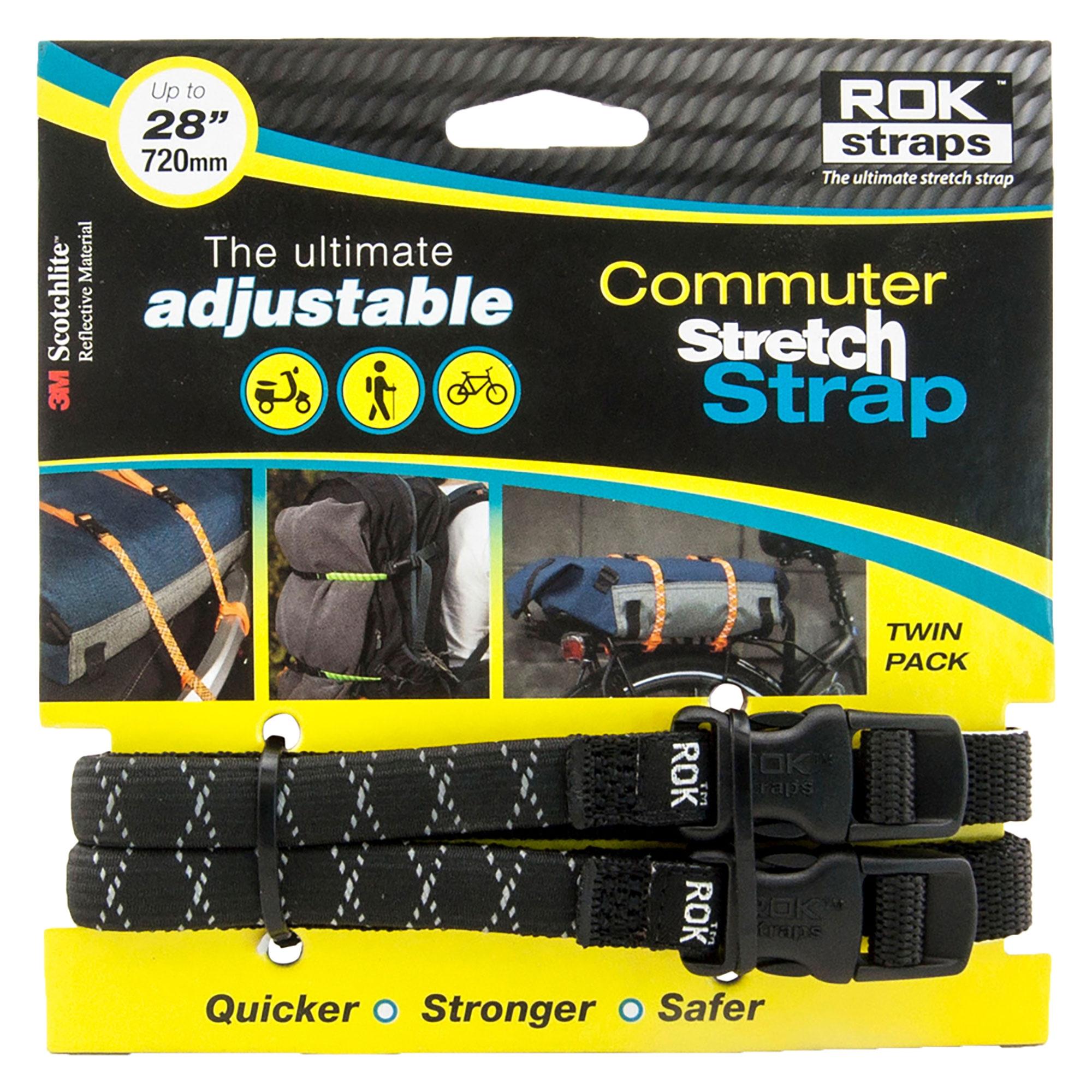 ROK Straps ROK-10025 Black 18-60 Motorcycle//ATV Adjustable Stretch Strap