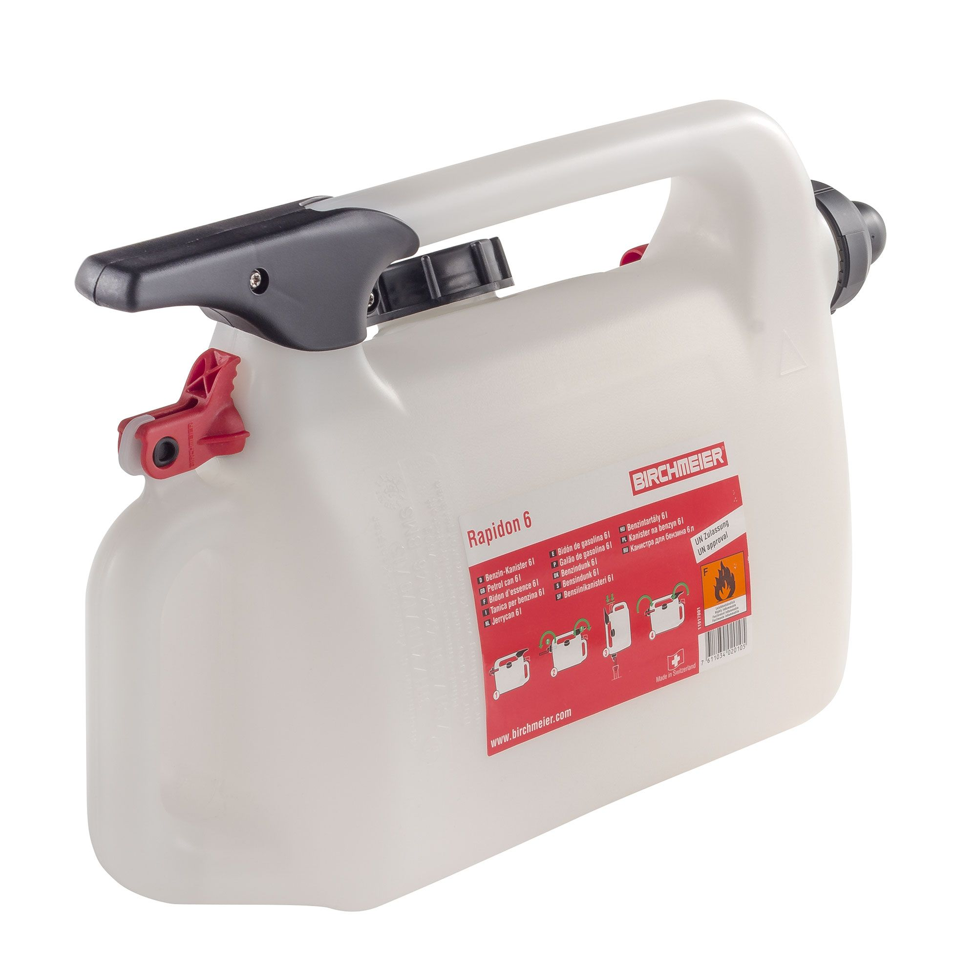 6 Litre Capacity Pitking Products Rapid Fill Filling Petrol//Fuel Can//Container