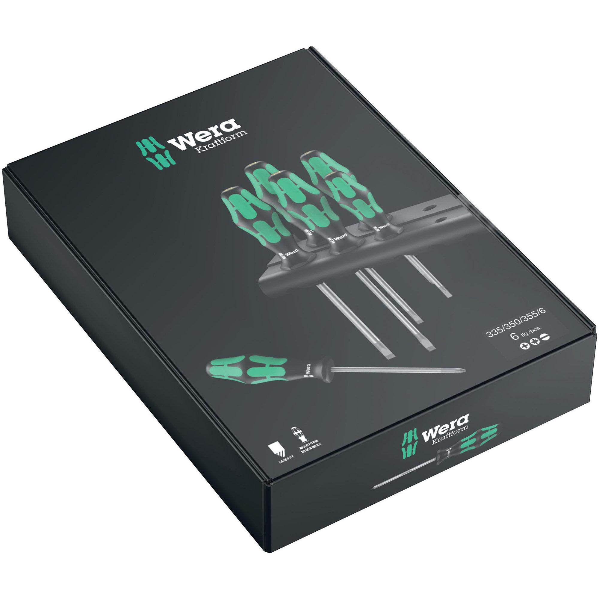 Wera WER110001 Kraftform 335 Screwdriver Parallel Slotted Tip 3.0 X 80 mm